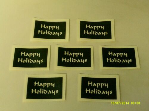 10-400 Happy Holiday words stencils for etching on glass Christmas hobby craft