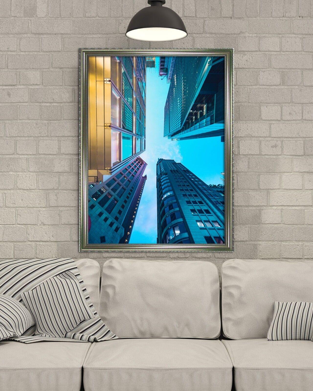 3D Sky Stadt 667 Fake Framed Poster Home Decor Drucken Painting Unique Kunst