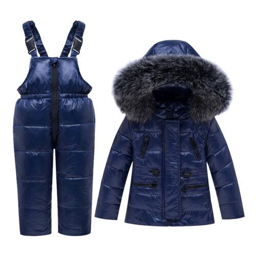 Trousers Suit Boys Girls Kids Toddler Snowsuit Snow Duck Down Coat Jacket