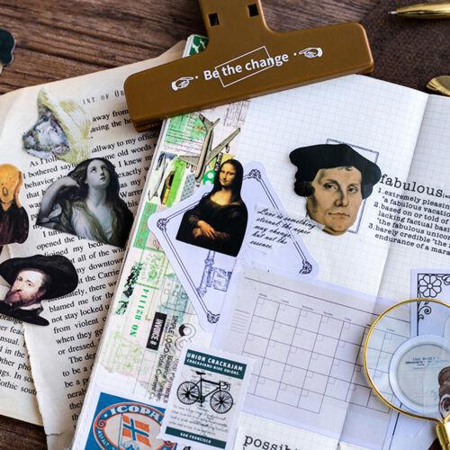 45Pcs//Pack Famous Artist Mini Sticker Diy Scrapbooking Sticker Stationery DecSE