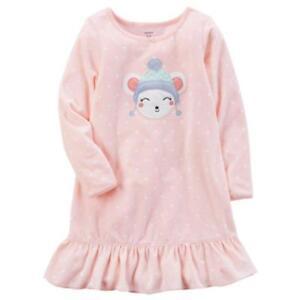 91ac5a7de CARTER S® Toddler Girls  2 3 Pink Bear Long Sleeve Fleece Nightgown ...