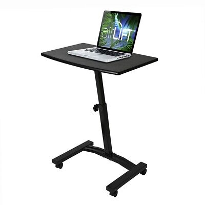 premium selection f9cda 4fb60 Tall Mobile Computer Desk Table Stand Workstation For Office Laptop Cart  Rolling | eBay