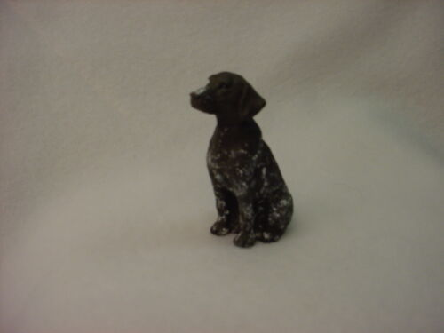 GERMAN SHORTHAIR POINTER puppy TiNY DOG Figurine HAND PAINTED MINIATURE MINI Sm