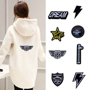 5pcs-set-Embroidery-Super-Girl-Star-Route-Sew-Iron-On-Patch-Badge-Jeans