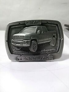 GMC TRUCKS metal Belt Buckle Blue Brushed steel Color gift NASCAR RACING Classic