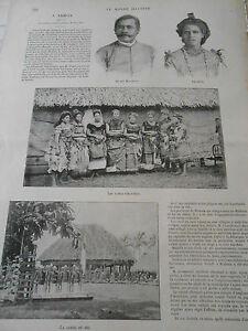 2019 DernièRe Conception 1899 Article De Presse A Samaoa Malietoa Cascade De Sliding Rock Apia