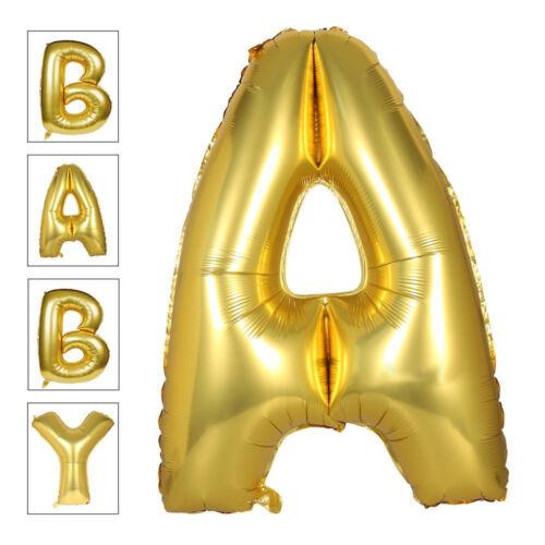40 Inch Foil Balloons Large Letter Balloons in Gold Silver /& Rose Full Alphabet
