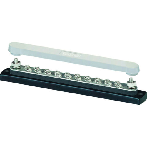 Blue Sea 2312 150 Ampere Common Busbar 20 x 8-32 Screw Terminal with Cover