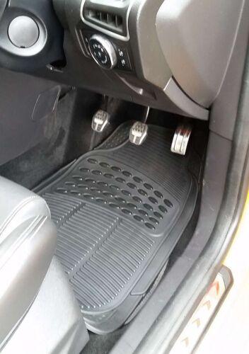 Universal Front /& Rear BLACK RUBBER Car Mats Chevrolet Captiva
