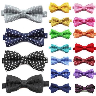 Child Kids Boy Polka Dot Bow Knot Necktie Wedding Party Bowtie Tuxedo Ties Party