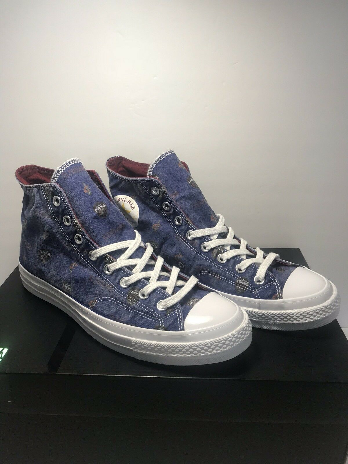 Converse Mens Size 10 CTAS Rare Cleveland Cavaliers Chambray High Top Shoes
