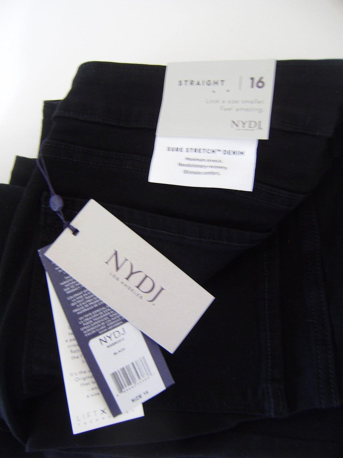 NYD Femme Jeans schwarz Größe 16 Marilyn lift et Tuck Straight
