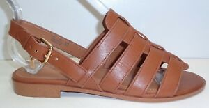 Coach-Size-6-5-M-SKYLER-Tan-Leather-Strappy-Open-Toe-Sandals-New-Womens-Shoes