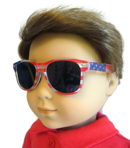 "For 18/"" American Girl Boy Logan Doll Clothes Accessories Patriotic Sunglasses"