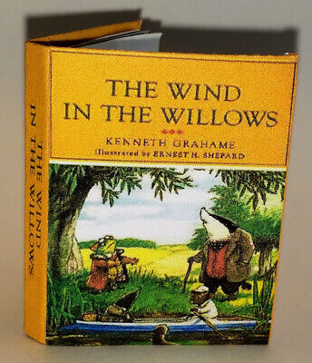 The Wind in the Willows dollhouse miniature book