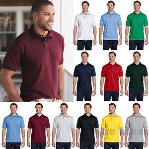 46d36678114 Hanes Mens EcoSmart Jersey Knit Polo Golf Sport Shirt S-4XL 054X-054 ...