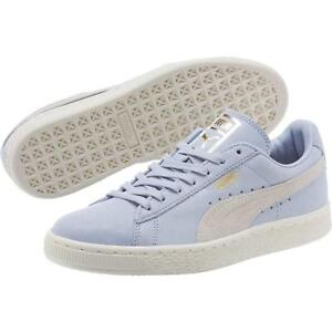 low priced f91ad 1b52c Details about Puma Suede Classic Shine Womens Color Halogen Blue Whisper  White Gold