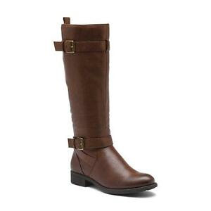 059c9cb4812e G.H.BASS JORDAN WIDE CALF TALL BOOT WHISKEY BROWN WOMEN S SIZE 6M ...