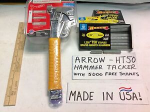 Ht50 arrow top usa brand hammer tacker with free staples for Best garden tools brand