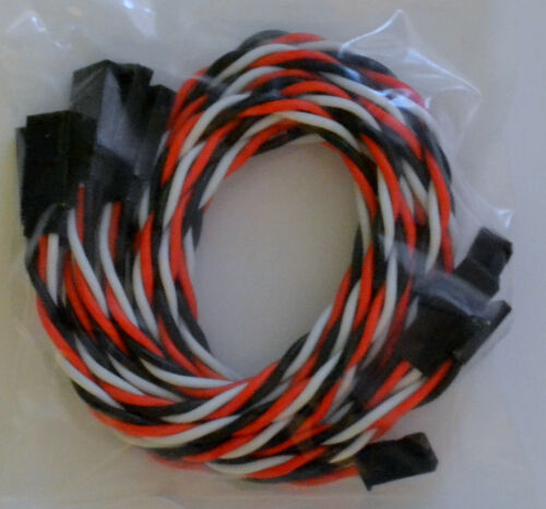 Futaba Servo Extension Leads with 45CM Heavy Duty Twisted 20awg Wire 5
