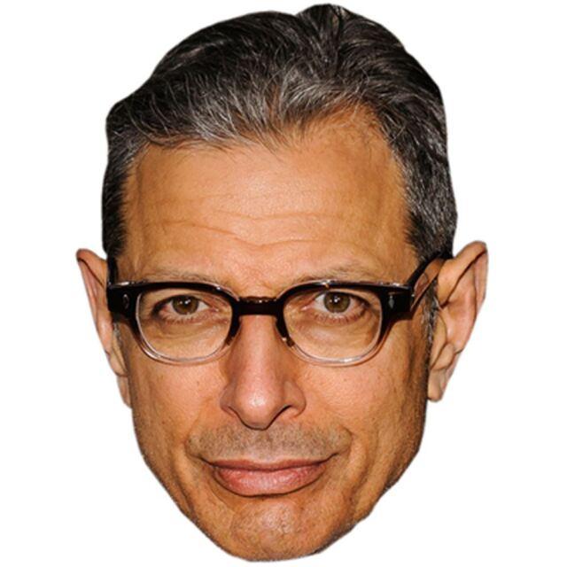 Jeff Goldblum Celebrity Mask, Card Face and Fancy Dress Mask