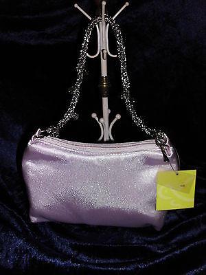 Carpisa kleine Tasche - Abendtasche in Rosa mit Kettenhenkel und Glassteinchen