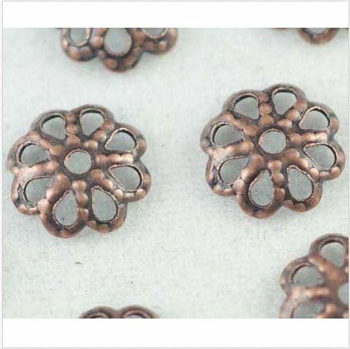 New Arrive! 500/300pcs Copper Plated Flower Bead Caps DIY Jewelry Findings 6/7mm