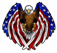 "American Flag Eagle Wings 7"" Decal Free Shipping"