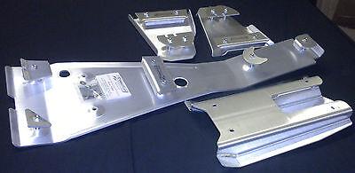 HONDA TRX400EX FRAME SKID PLATE & A-ARM PLATE SET .125 THK & .190 SWINGARM SKID