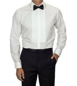 Van-Heusen-Men-039-s-Spread-Collar-Formal-Tuxedo-Shirt-White-M-15-15-5-33-34