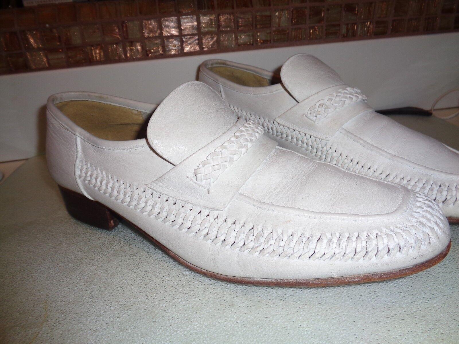 Mens Slip on White Shoes Cousin Eddie size 8.5