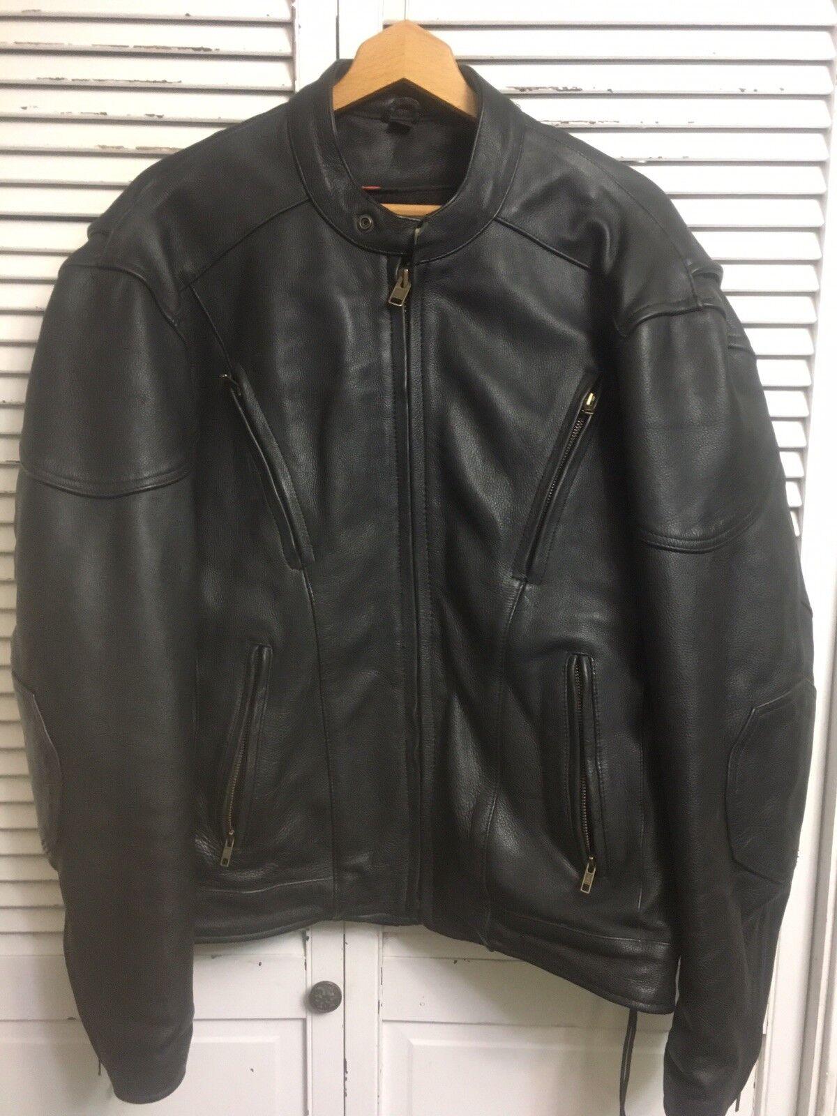 Alaska Cuero Anclaje  305 Negro Chaqueta De Cuero Moto Con Revestimiento Ultra 48  venta con descuento