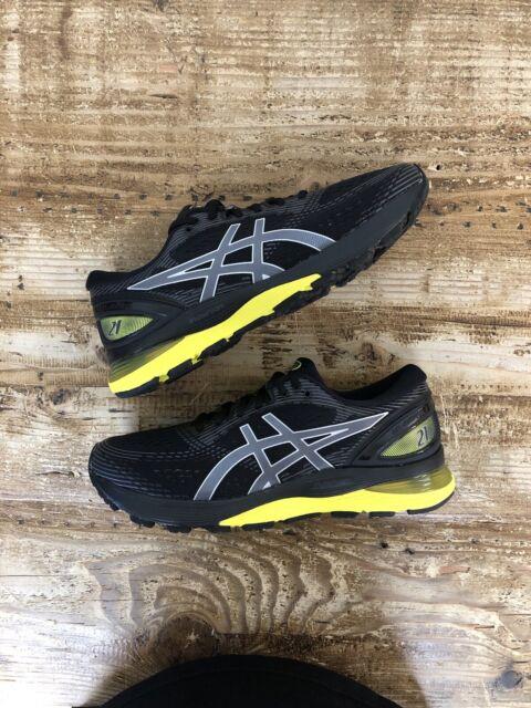 ASICS Gel-Nimbus 21 Black Lemon Spark 003 Running Shoes Men 8