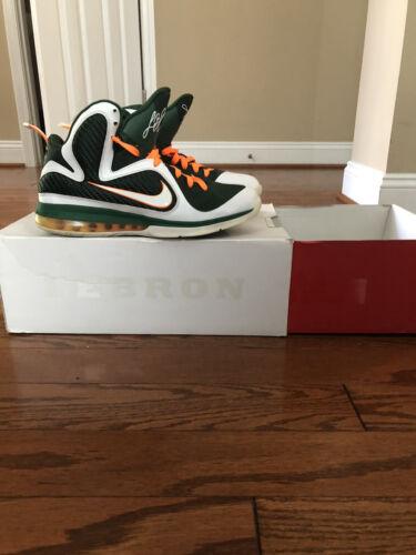 Nike Lebron 9 'Freegums' Miami Hurricanes Shoes