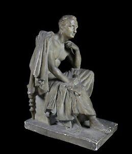 David-D-039-Angers-1788-1856-Francois-joseph-Talma-Skulptur-Rund-Bosse-XIX-Eme