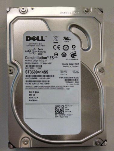Dell  500G SAS 7.2K U717K ST3500414SS HDD