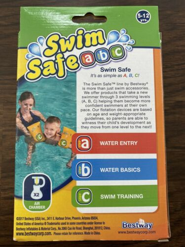 Details about  /Swim Safe ABC Jr Arm Bands 5-12 Years Step C Inflatable Floaties Pool Water