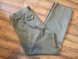 Perry Ellis Portfolio Para Hombre Pantalones De Color Caqui Tan Vestido Talla W34 L29 Ebay