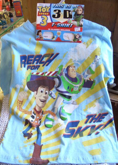 Disney Pixar 3-D Toy Story 3 T-Shirt, MINT, w/ 3-D Glasses! Reach For The Sky!