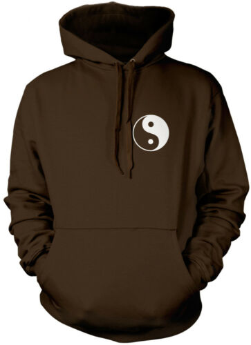 Peace Sign Pocket Logo yin yang 90s hippy insta love cute Unisex Hoodie