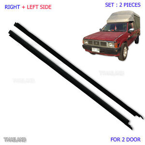 Details about Fits Nissan Navara D21 86 - 05 Set Outer Door Weather Window  Rubber Seal Belt