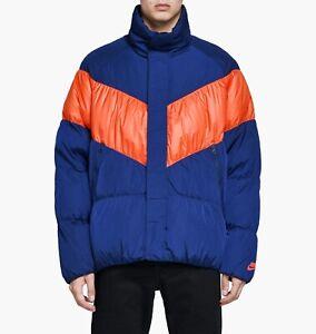 Details about Nike Sportswear Down Jacket CHOOSE SIZE 928893 478 Parka Fill Blue Void Red
