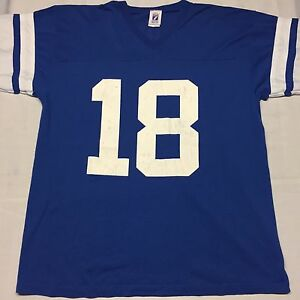Vintage Indianapolis Colts Peyton Manning NFL T-Shirt Football Large ... 69ce5a7bf