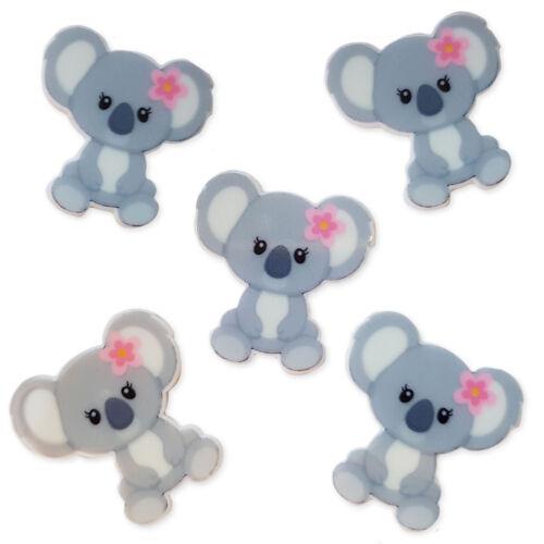 5 un Koala Oso Planar Acrílico Flatback Cabujones Adorno Decoden Craft