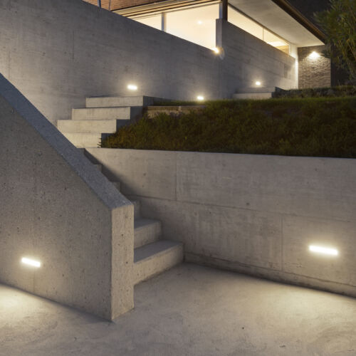 4 Stück LED Wandeinbauleuchte Piko-L für Treppe /& Außen 230V IP65 neutralweiß