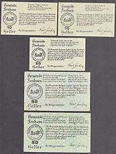 Fraham (OÖ) -Gemeinde- 2 x 10 H, 20 H und 2 x 50 Heller (JP 205)