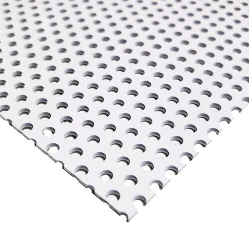 "0.100/"" Hole White Painted Aluminum Perforated Sheet 0.040/"" x 12/"" x 12/"""