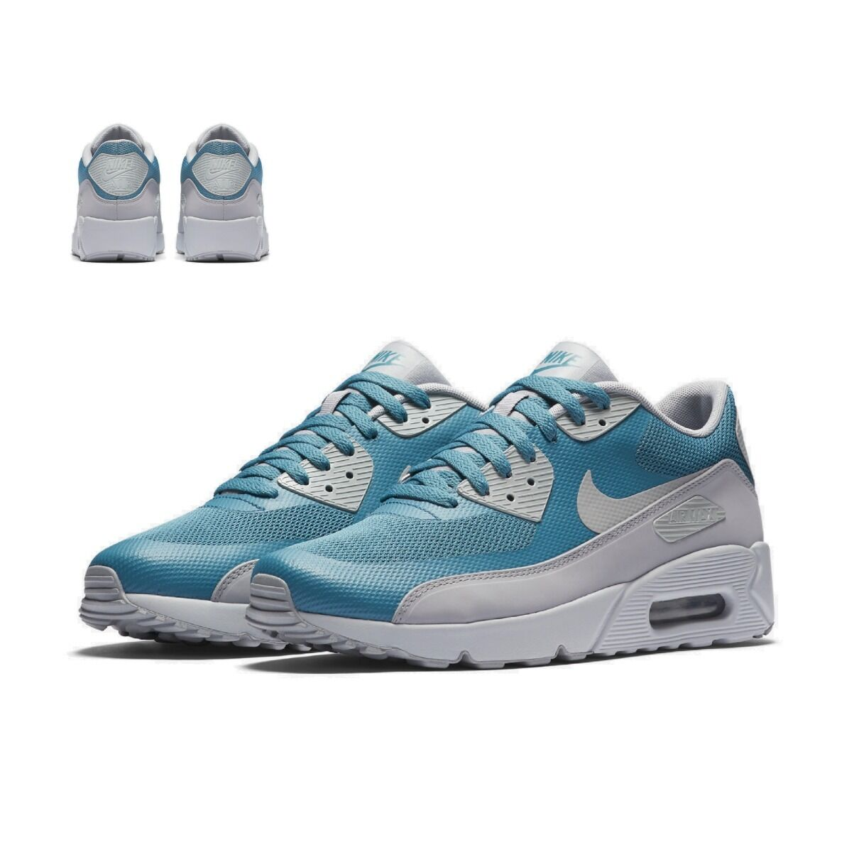 NIKE AIR MAX 90 ULTRA 2.0 ESSENTIAL MENS TRAINER TRAINER TRAINER SHOE BLUES GREYS SIZE 7 - 11 5d02ae