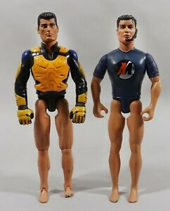 Lot of 2 figure action man hasbro 1998 and 1999