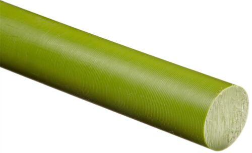 "- Green 48/"" Length x 4/"" Diameter Oil-Filled Nylon 6 Round Rod Nominal"